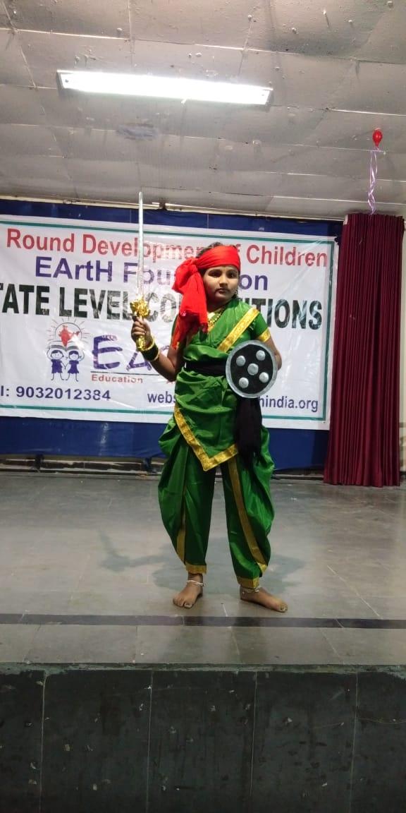 Jhansi Laxmibai pose by EArtH kid