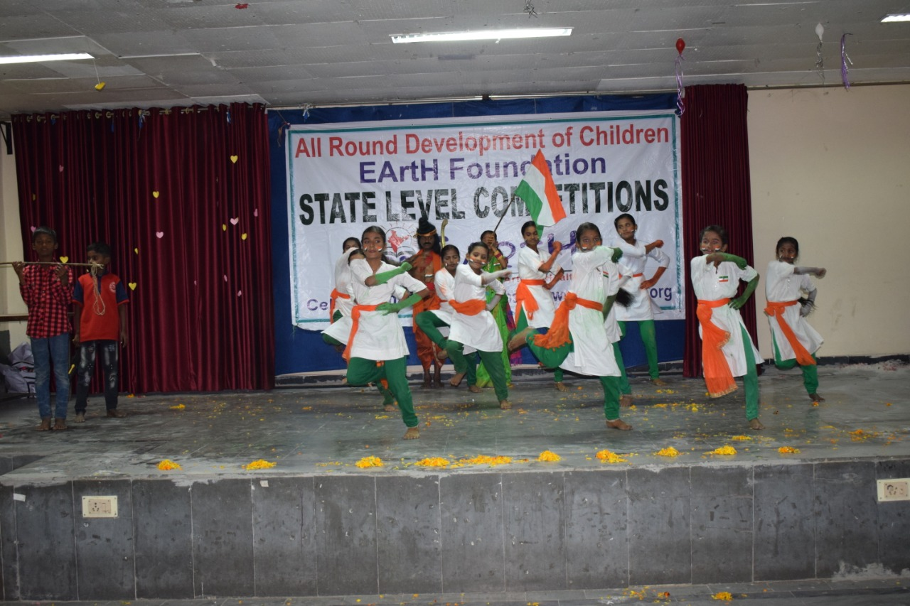 Dance performance on a patriotic song